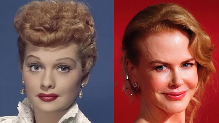 Lucille Ball and Nicole Kidman