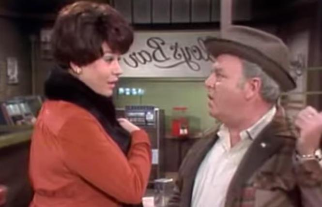 The B.A.R.'s Entertainment Editor Donald McLean as Beverly LaSalle, here with Carroll O'Connor, on 'All in the Family'