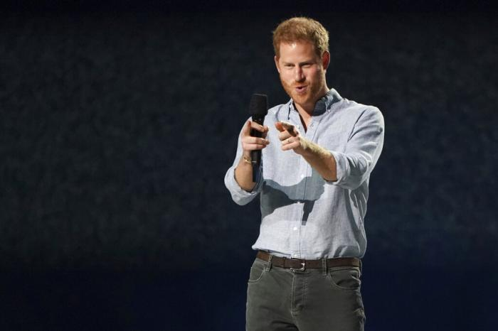 """Prince Harry, Duke of Sussex, speaks at """"Vax Live: The Concert to Reunite the World"""""""
